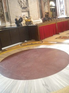 Floor in St. Peters at the Vatican