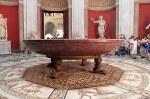 Nero's porphyry bathtub in the vatican