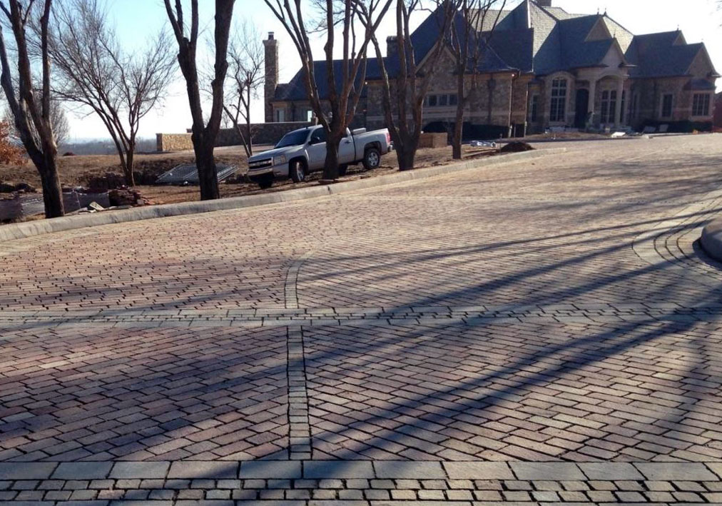 Porphyry offered a beautiful, quality, low maintenance solution to this Central Oklahoma home.